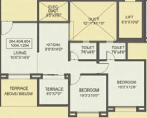 Sree Aishwaryam (2BHK+2T (887 sq ft) Apartment 887 sq ft)
