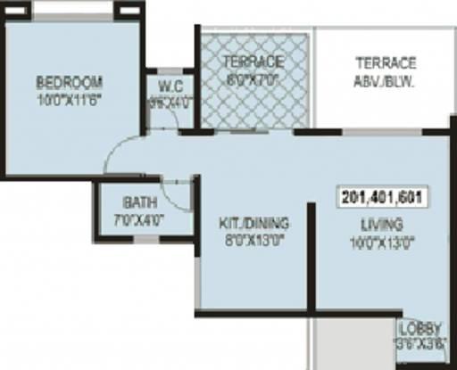 Sree Aishwaryam Greens (1BHK+1T (595 sq ft) Apartment 595 sq ft)