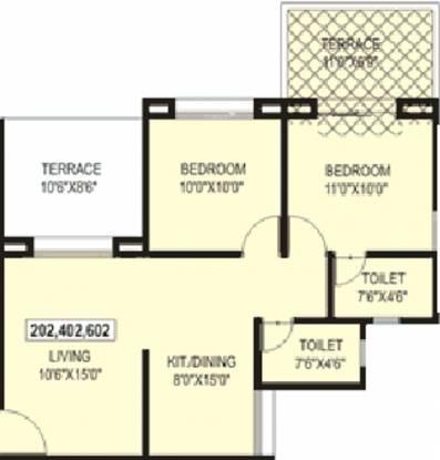 Sree Aishwaryam Greens (2BHK+2T (835 sq ft) Apartment 835 sq ft)