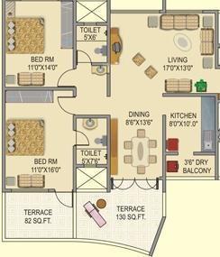 Shree Bal Kapil Malhar Phase II (2BHK+2T (1,283 sq ft) Apartment 1283 sq ft)