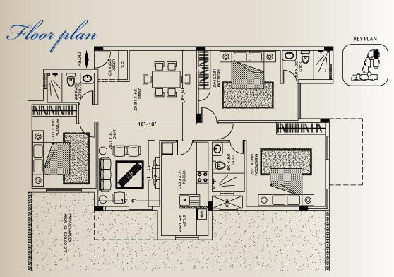 Skyline Magnolia (3BHK+3T (1,831 sq ft) Apartment 1831 sq ft)