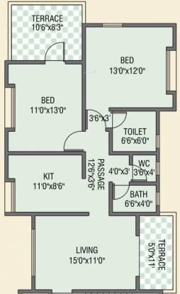 Kamalraj Madhukunj (2BHK+2T (904 sq ft) Apartment 904 sq ft)