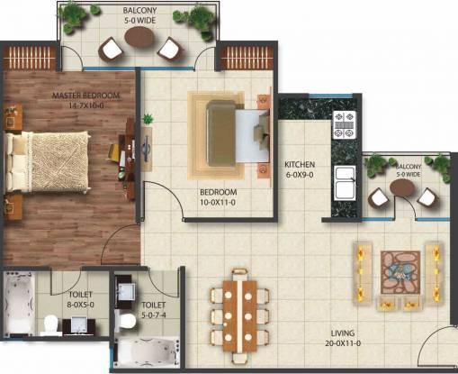 Nimbus Golden Palm Village (2BHK+2T (1,021 sq ft) Apartment 1021 sq ft)