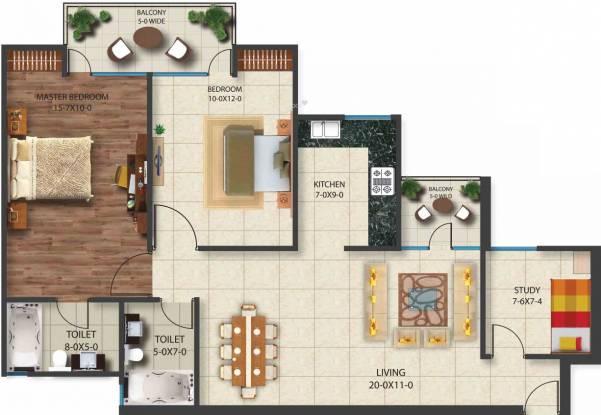 Nimbus Golden Palm Village (2BHK+2T (1,175 sq ft) + Study Room Apartment 1175 sq ft)