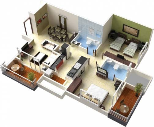 Pride Aloma County (2BHK+2T (1,206 sq ft) Apartment 1206 sq ft)