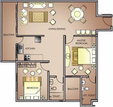 Daya Vivarta Maagan (2BHK+2T (1,275 sq ft) Apartment 1275 sq ft)
