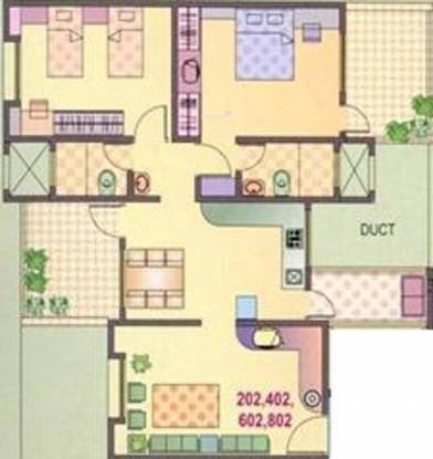 Yash Orchid (2BHK+2T (1,149 sq ft) Apartment 1149 sq ft)