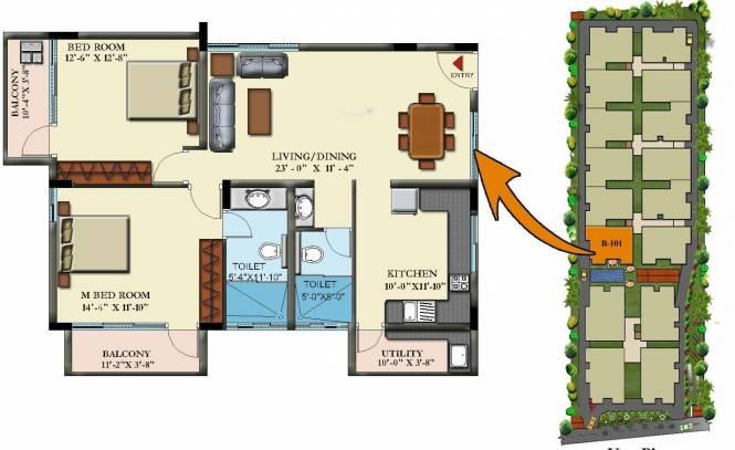 Insight Nandana (2BHK+2T (1,307 sq ft) Apartment 1307 sq ft)
