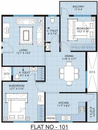 Pyramid North Square (2BHK+2T (1,060 sq ft) Apartment 1060 sq ft)