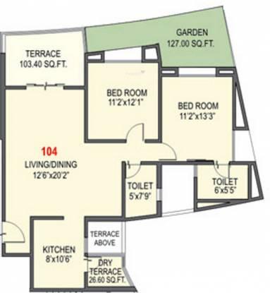 Nandan Prospera (2BHK+2T (1,152 sq ft) Apartment 1152 sq ft)