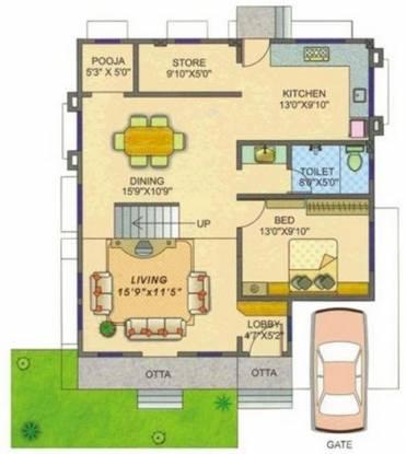 Madhuban Sai City (3BHK+3T (2,717 sq ft)   Pooja Room Villa 2717 sq ft)