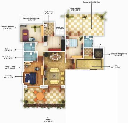 Shivam Solitaire (3BHK+3T (1,881 sq ft) Apartment 1881 sq ft)