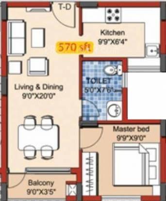 Yuga Alta (1BHK+1T (570 sq ft) Apartment 570 sq ft)