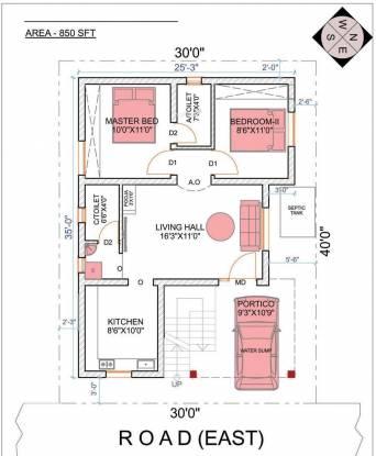 Upkar Royal Garden Villas (2BHK+2T (850 sq ft) Villa 850 sq ft)