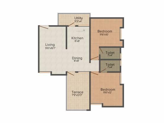 Horizon Aster Trinity (2BHK+2T (1,004 sq ft) Apartment 1004 sq ft)