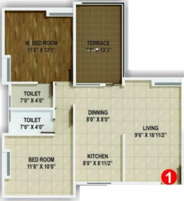 Horizon Aster Trinity (2BHK+2T (946 sq ft) Apartment 946 sq ft)