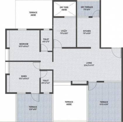 Horizon Aster Hermitage (3BHK+2T (1,269 sq ft) Apartment 1269 sq ft)