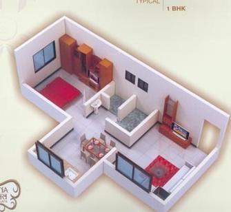 Shree Sai Swapna Nagari (1BHK+1T (625 sq ft) Apartment 625 sq ft)
