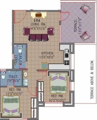 Khivansara Shubham Terraces (2BHK+2T (964 sq ft) Apartment 964 sq ft)
