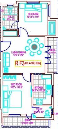 MRL Sai Vila (2BHK+2T (950 sq ft) Apartment 950 sq ft)