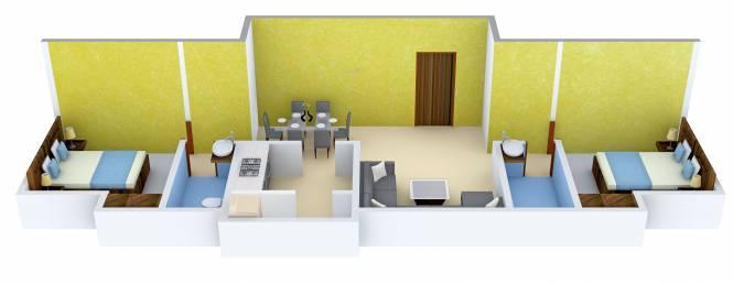 Golden Lancaster (2BHK+2T (882 sq ft) Apartment 882 sq ft)