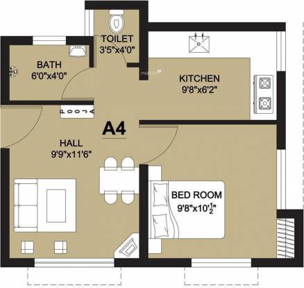 Arun Lathangi (1BHK+2T (465 sq ft) Apartment 465 sq ft)