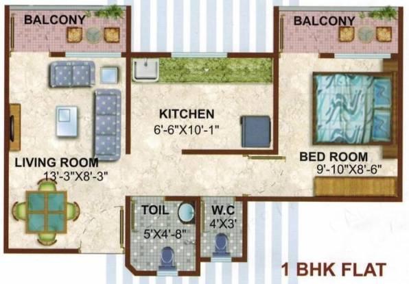 Konnark River City (1BHK+1T (600 sq ft) Apartment 600 sq ft)