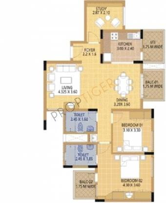 Oceanus Monarda (2BHK+2T (1,158 sq ft) Apartment 1158 sq ft)