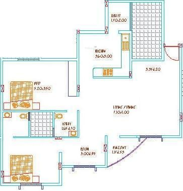 Aratt Divya Jyothi Emeralds (2BHK+2T (900 sq ft) Apartment 900 sq ft)