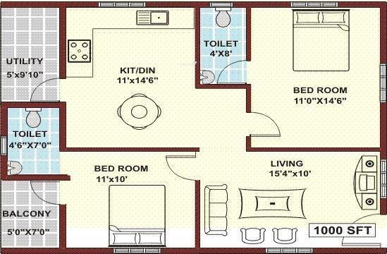 Mahaveer Regal (2BHK+2T (1,000 sq ft) Apartment 1000 sq ft)