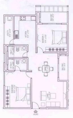 Golden Bhuvana Greens (2BHK+2T (1,300 sq ft) Apartment 1300 sq ft)