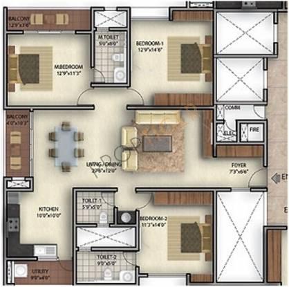 Golden Bhuvana Greens (3BHK+3T (2,020 sq ft) Apartment 2020 sq ft)