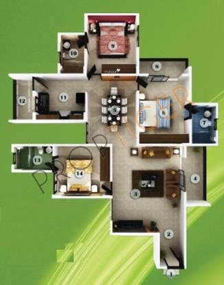 Aratt Adora (3BHK+3T (1,455 sq ft) Apartment 1455 sq ft)