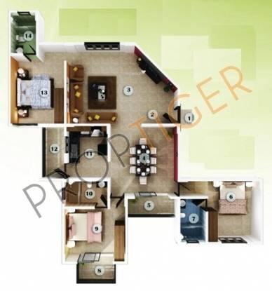 Aratt Adora (3BHK+3T (1,527 sq ft) Apartment 1527 sq ft)