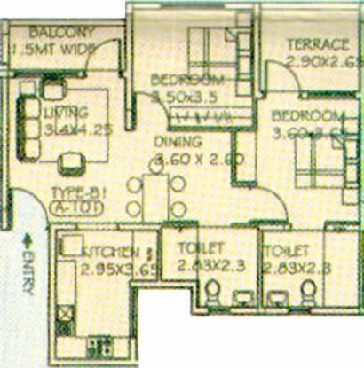 Paranjape Athashri (2BHK+2T (1,234 sq ft) Apartment 1234 sq ft)