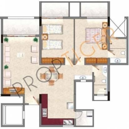 Rohan Jharoka (2BHK+2T (1,369 sq ft) Apartment 1369 sq ft)