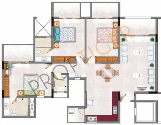 Rohan Jharoka (3BHK+3T (1,640 sq ft) Apartment 1640 sq ft)