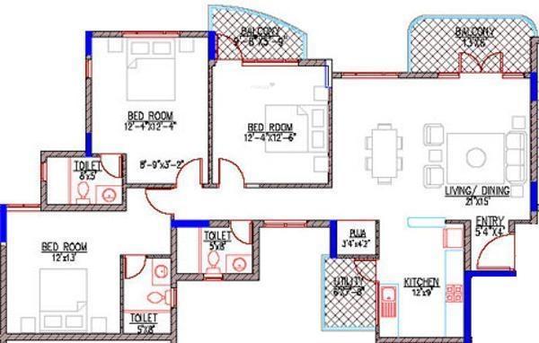 Maangalya Suryodaya (3BHK+3T (1,774 sq ft)   Pooja Room Apartment 1774 sq ft)