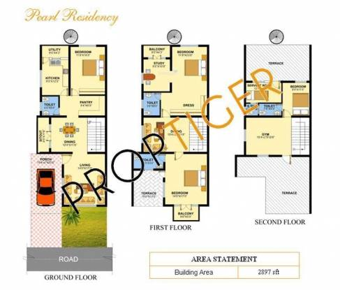 Venus Pearl Residency (3BHK+3T (2,897 sq ft) Apartment 2897 sq ft)