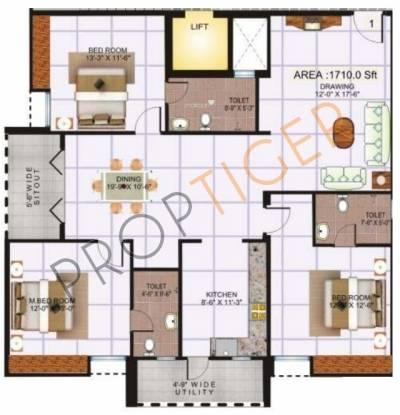 Saroj Epic (3BHK+3T (1,710 sq ft) Apartment 1710 sq ft)