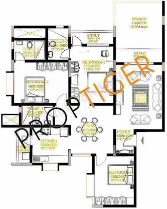 Sobha Daffodil (3BHK+3T (1,748 sq ft) Apartment 1748 sq ft)