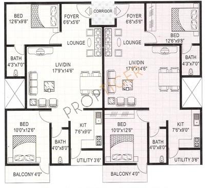 Vmaks Rosebay (2BHK+2T (1,026 sq ft) Apartment 1026 sq ft)