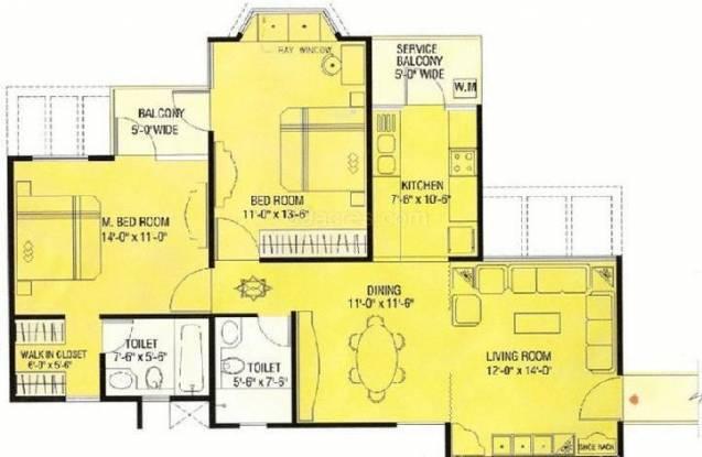Agarwal Aditya Mega City (2BHK+2T (1,225 sq ft) Apartment 1225 sq ft)
