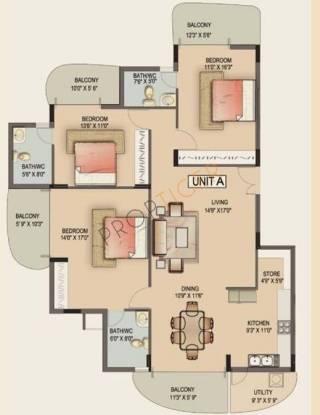 Jain Avalon (3BHK+3T (2,000 sq ft) Apartment 2000 sq ft)