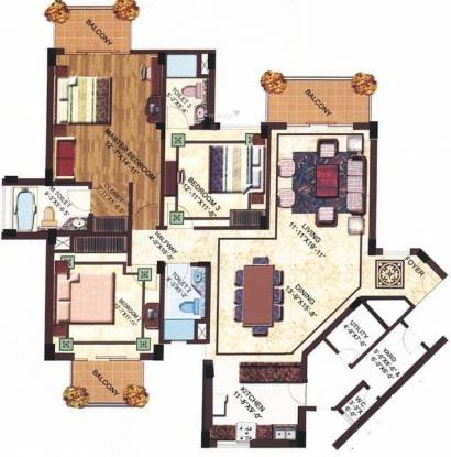 SS Delight and Splendours (3BHK+3T (2,250 sq ft) Apartment 2250 sq ft)