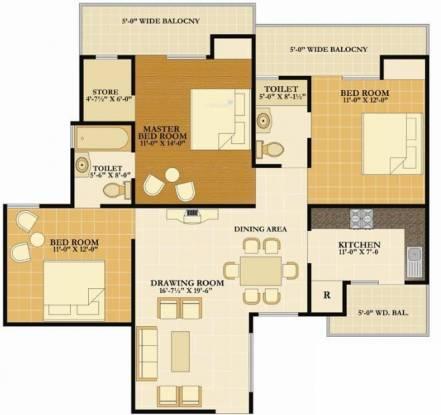 Nirala Eden Park II (3BHK+2T (1,600 sq ft) Apartment 1600 sq ft)