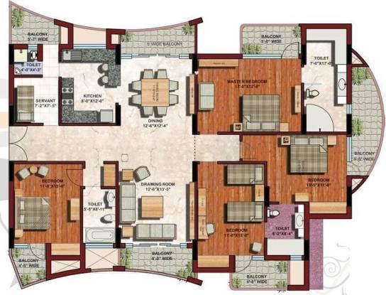 ABA Platinum Condos (4BHK+4T (2,655 sq ft)   Servant Room Apartment 2655 sq ft)