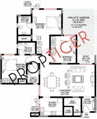 Sobha Sunbeam II (3BHK+3T (1,776 sq ft) Apartment 1776 sq ft)