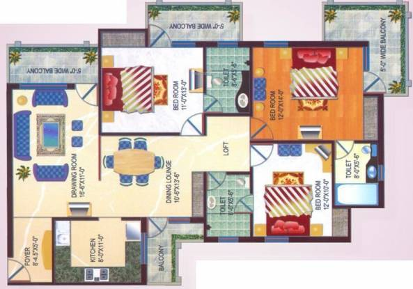 Arihant Harmony (3BHK+3T (1,810 sq ft) Apartment 1810 sq ft)