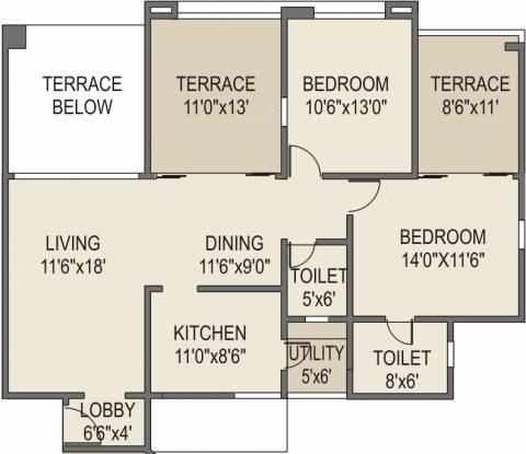 Rohan Tarang (2BHK+2T (1,346 sq ft) Apartment 1346 sq ft)